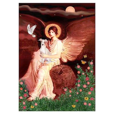 Seated Angel / Italian Greyhound Poster