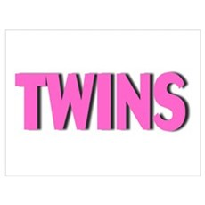 Twins (Pink) Poster
