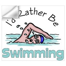 I'd Rather Be Swimming Wall Decal
