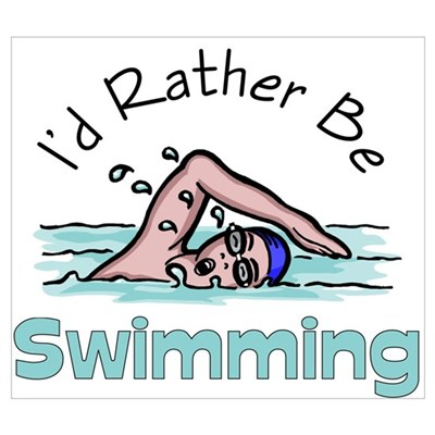 I'd Rather Be Swimming Canvas Art