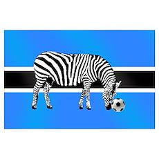The Botswanan Zebras Poster