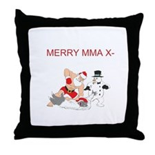 MMA Santa Throw Pillow