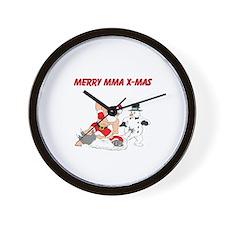 MMA Santa Wall Clock