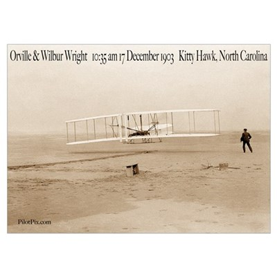 Wright Bros First Flight Poster
