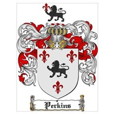 Perkins Family Crest Poster