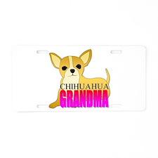 Chihuahua Grandma Aluminum License Plate