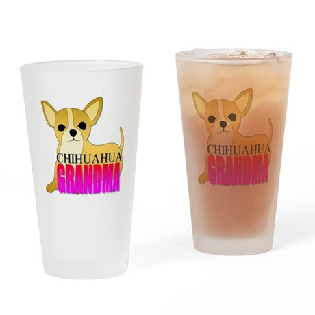 Chihuahua Grandma Drinking Glass