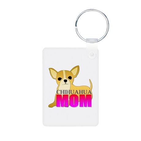 Chihuahua Mom Aluminum Photo Keychain