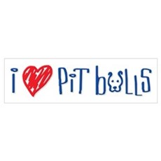 I Love Pit Bulls Poster