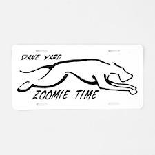 Dane Yard Zoomie Time Aluminum License Plate