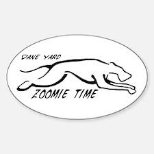 Dane Yard Zoomie Time Sticker (Oval)