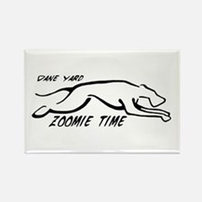 Dane Yard Zoomie Time Rectangle Magnet