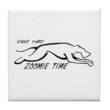 Dane Yard Zoomie Time Tile Coaster