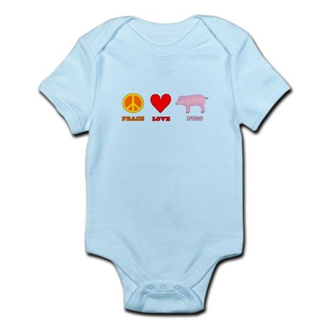 Peace Love Pigs Infant Bodysuit