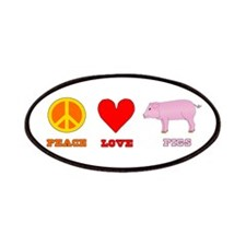 Peace Love Pigs Patches