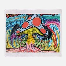 Magic mushrooms Throw Blanket