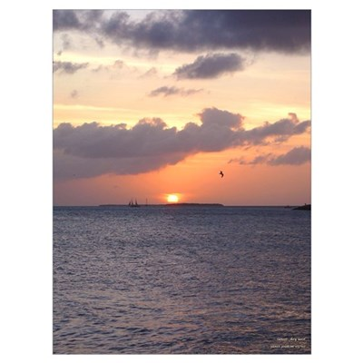 Famous Key West Sunset Poster