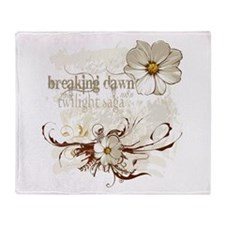 Breaking Dawn Floral Throw Blanket