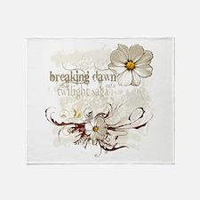 Breaking Dawn Floral Throw Blanket
