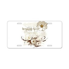 Breaking Dawn Floral Aluminum License Plate