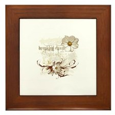 Breaking Dawn Floral Framed Tile