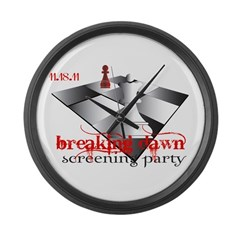 Breaking Dawn Screening Party Large Wall Clock