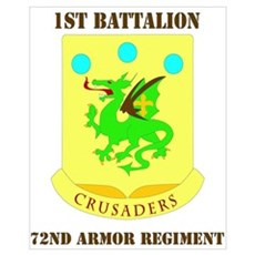 DUI - 1st Bn - 72nd Armor Regt with Text Small Fra Poster