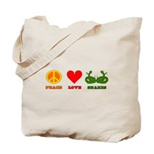 Peace Love Snakes Tote Bag