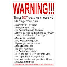 Pain Warning Poster