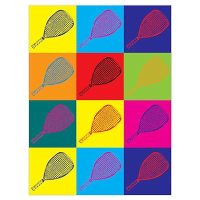 Racquetball Pop Art Poster