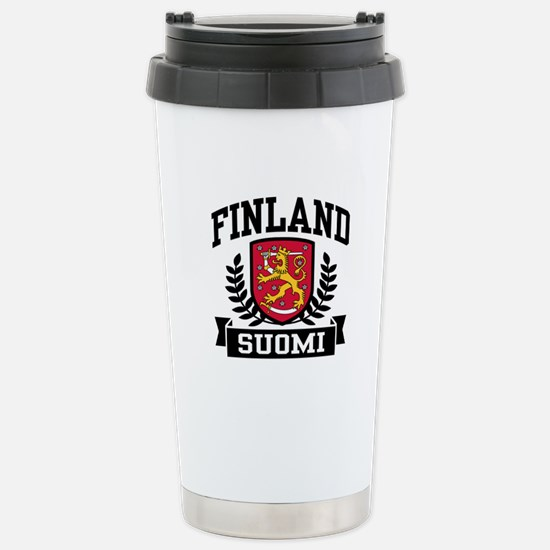 Finland Suomi Stainless Steel Travel Mug