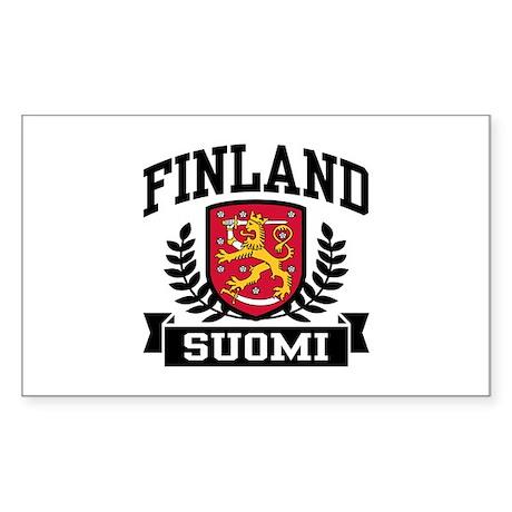 Finland Suomi Sticker (Rectangle)