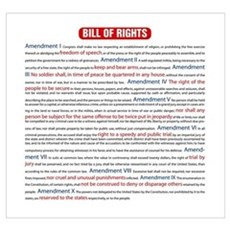 Colorful Bill of Rights Poster