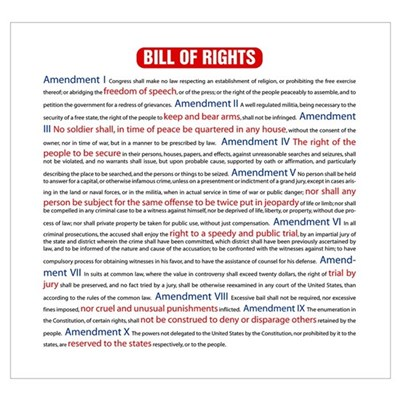 Colorful Bill of Rights Framed Print