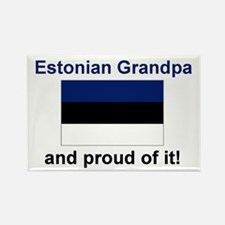 "Proud Estonian Grandpa Magnet (3""x2"")"
