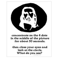 Concentrate on the 4 dots... Poster