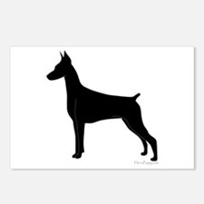 Doberman Silhouette Postcards (Package of 8)