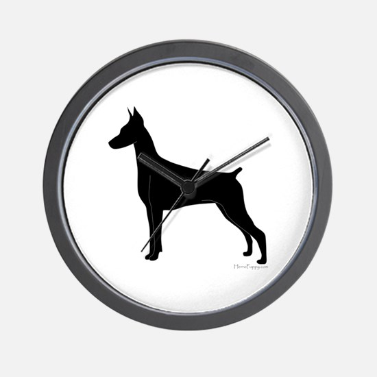 Doberman Silhouette Wall Clock