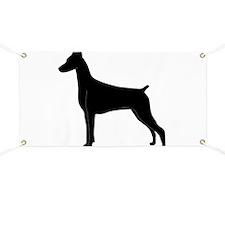 Doberman Silhouette Banner
