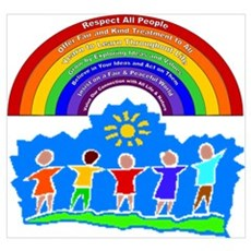 Rainbow Principles Kids Framed Print