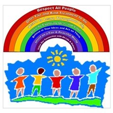 Rainbow Principles Kids Poster