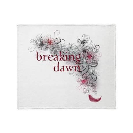 Breaking Dawn feather Throw Blanket