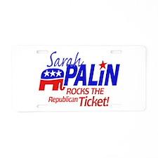 McCain Palin Republicans Rock Aluminum License Pla