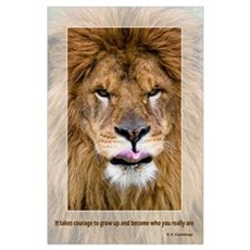 COURAGE: Lion Poster
