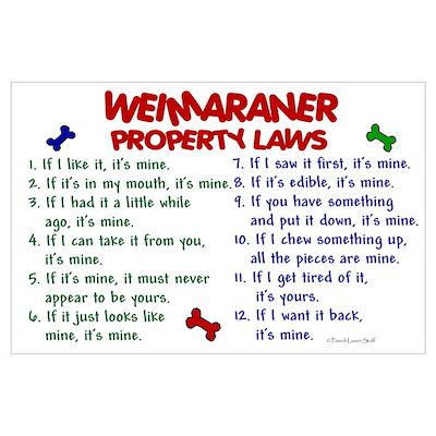 Weimaraner Property Laws 2 Poster
