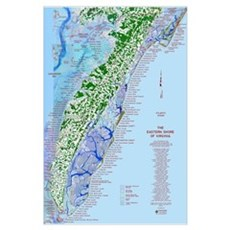 Eastern Shore Map Poster