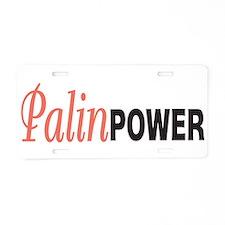 Sarah Palin Power Aluminum License Plate