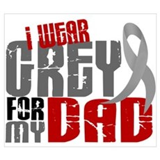 I Wear Grey For My Dad 6 Canvas Art