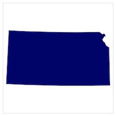 Kansas - Blue Poster
