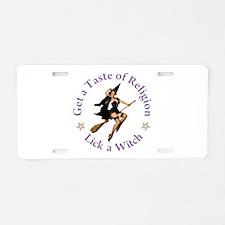 Get A Taste of Religion Aluminum License Plate